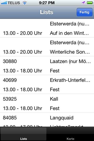 Verkaufsoffene Sonntage Apps Ergebnisliste