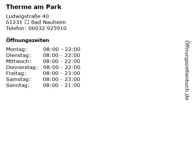 Therme am Park in  Bad Nauheim: Adresse und Öffnungszeiten