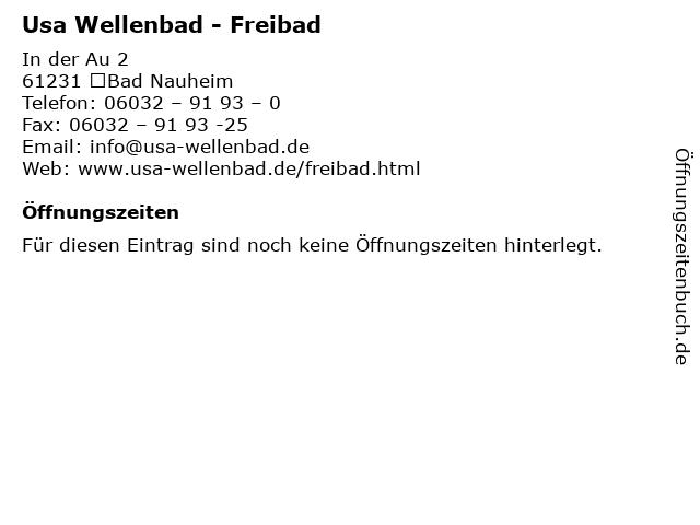 Usa Wellenbad - Freibad in Bad Nauheim: Adresse und Öffnungszeiten