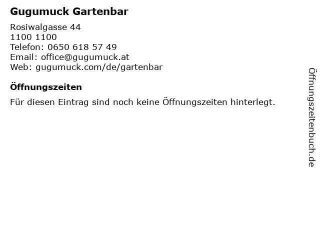 Gugumuck Gartenbar in 1100: Adresse und Öffnungszeiten