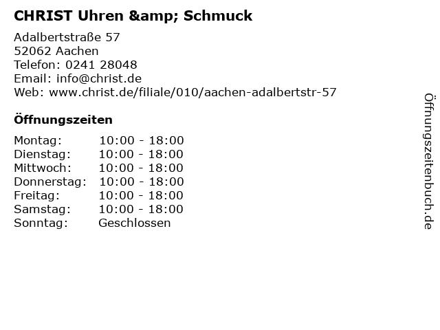 CHRIST Uhren & Schmuck in Aachen: Adresse und Öffnungszeiten