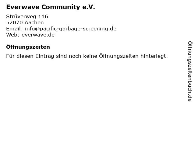 Everwave Community e.V. in Aachen: Adresse und Öffnungszeiten
