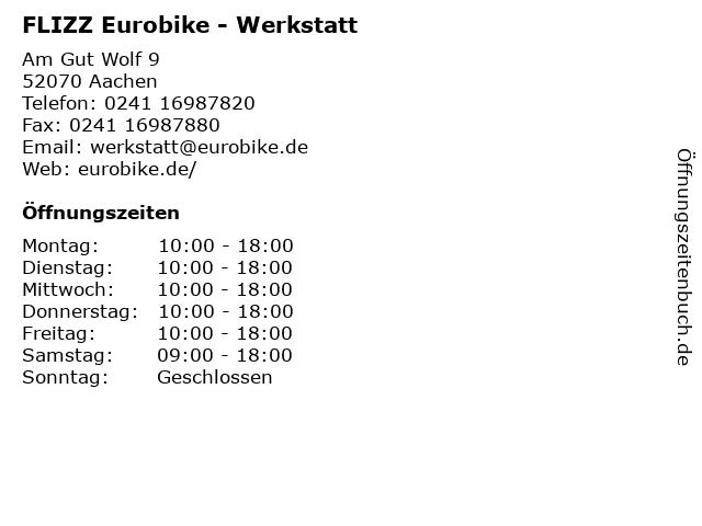 FLIZZ Eurobike - Werkstatt in Aachen: Adresse und Öffnungszeiten