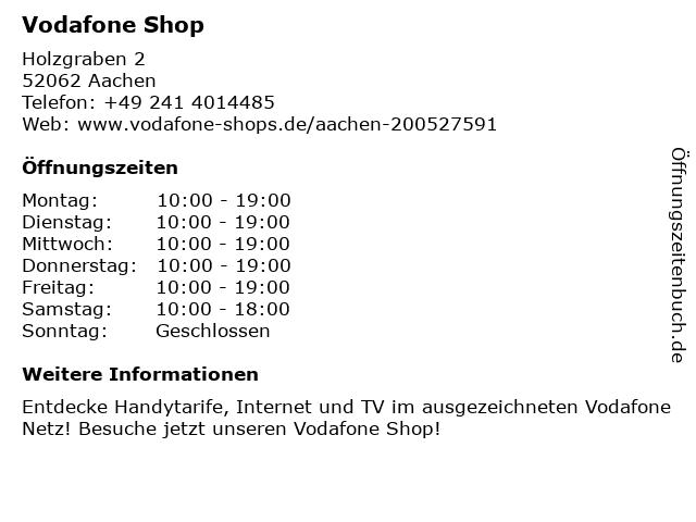 Vodafone Shop in Aachen: Adresse und Öffnungszeiten