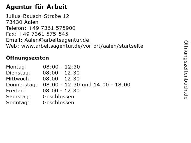 agentur für arbeit aalen