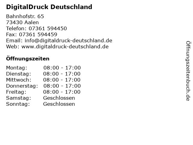 ᐅ öffnungszeiten Digitaldruck Deutschland Bahnhofstr