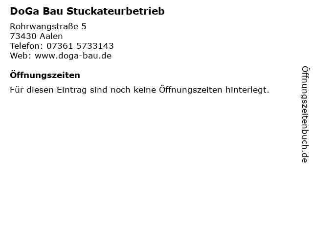DoGa Bau Stuckateurbetrieb in Aalen: Adresse und Öffnungszeiten