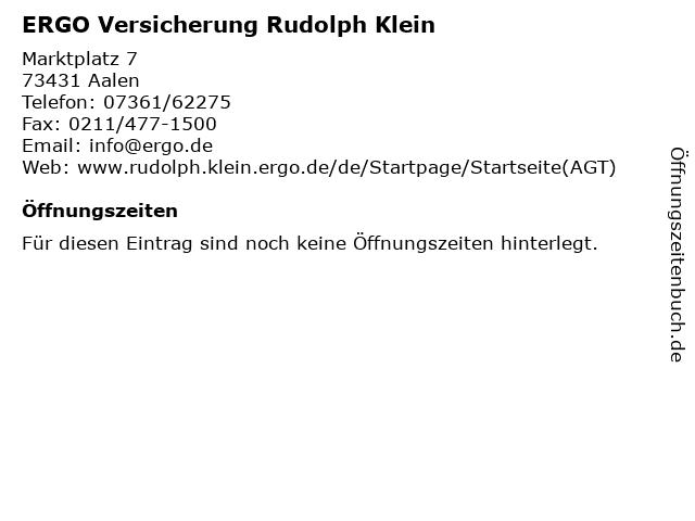 ERGO Versicherung Rudolph Klein in Aalen: Adresse und Öffnungszeiten