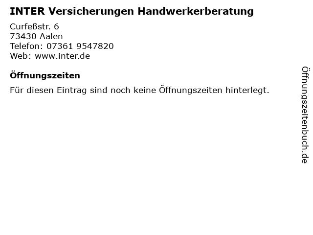 INTER Versicherungen Handwerkerberatung in Aalen: Adresse und Öffnungszeiten