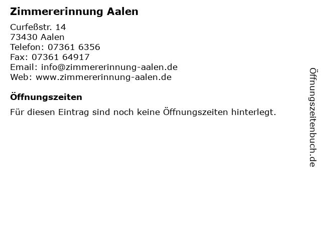 Zimmererinnung Aalen in Aalen: Adresse und Öffnungszeiten