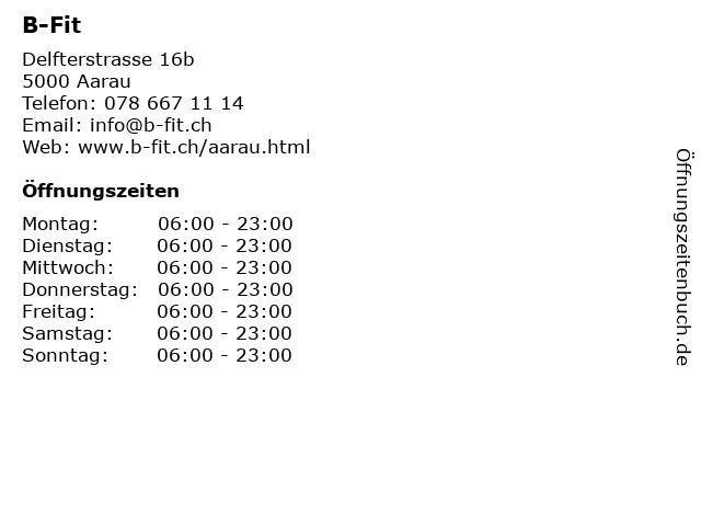 B-Fit in Aarau: Adresse und Öffnungszeiten