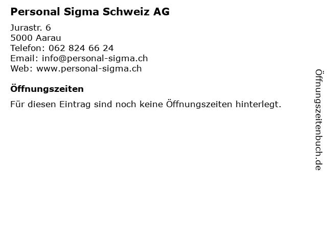 Personal Sigma Schweiz AG in Aarau: Adresse und Öffnungszeiten