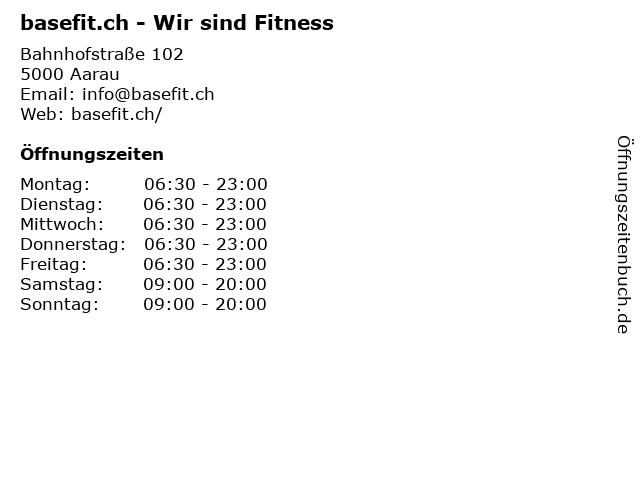 basefit.ch - Wir sind Fitness in Aarau: Adresse und Öffnungszeiten
