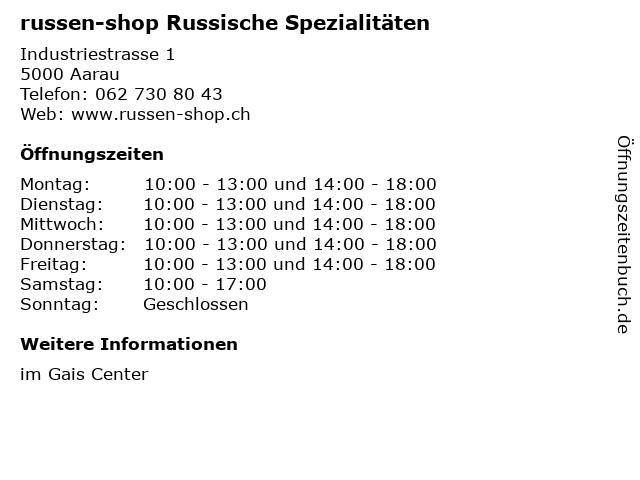 russen-shop Russische Spezialitäten in Aarau: Adresse und Öffnungszeiten