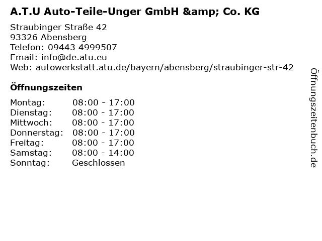 A.T.U Auto-Teile-Unger GmbH & Co. KG in Abensberg: Adresse und Öffnungszeiten