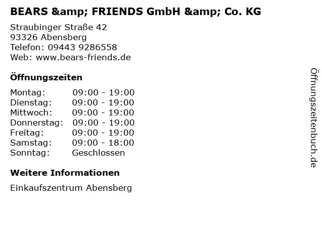BEARS & FRIENDS GmbH & Co. KG in Abensberg: Adresse und Öffnungszeiten