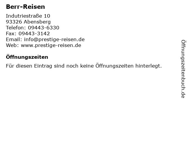 Berr-Reisen in Abensberg: Adresse und Öffnungszeiten