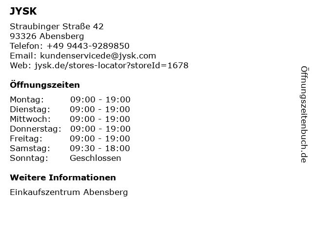 Dänisches Bettenlager GmbH & Co. KG in Abensberg: Adresse und Öffnungszeiten
