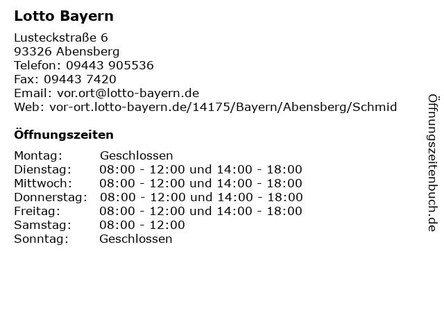 Lotto Bayern in Abensberg: Adresse und Öffnungszeiten
