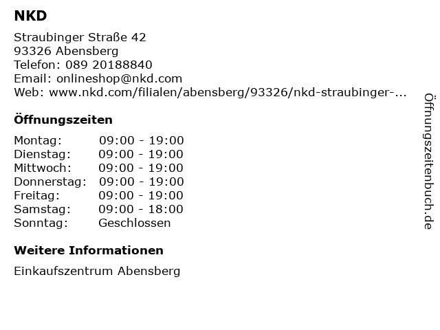 NKD - Abensberg in Abensberg: Adresse und Öffnungszeiten