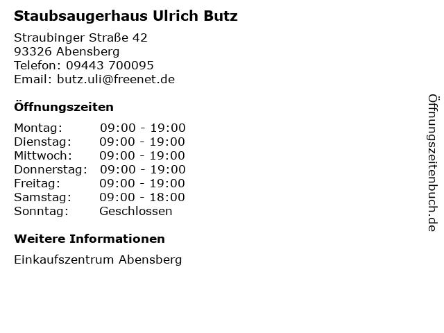Staubsaugerhaus Ulrich Butz in Abensberg: Adresse und Öffnungszeiten