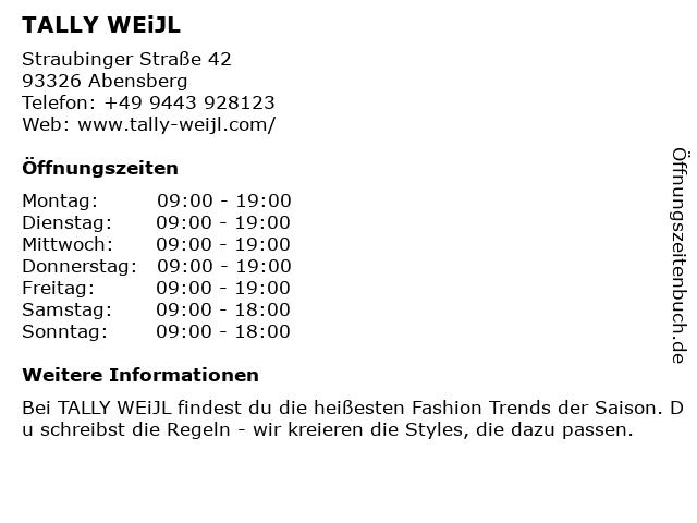 Tally Weijl Deutschland GmbH in Abensberg: Adresse und Öffnungszeiten