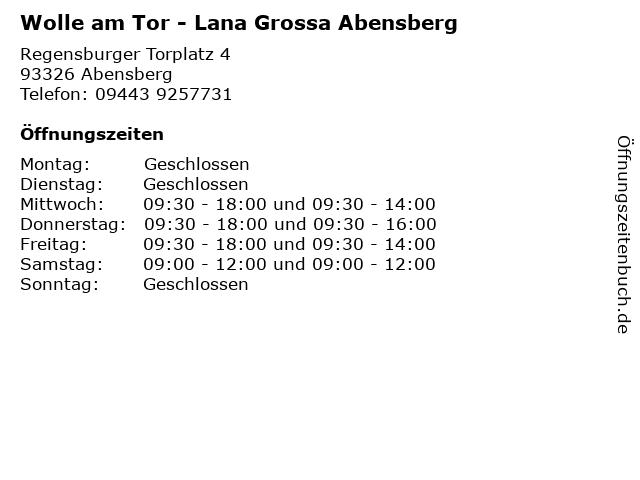Wolle am Tor - Lana Grossa Abensberg in Abensberg: Adresse und Öffnungszeiten
