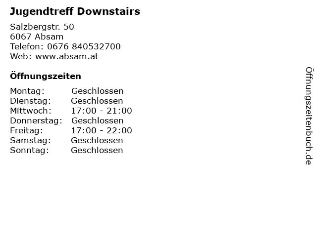 Jugendtreff Downstairs in Absam: Adresse und Öffnungszeiten