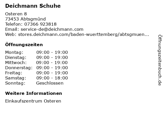 DEICHMANN in Abtsgmünd: Adresse und Öffnungszeiten
