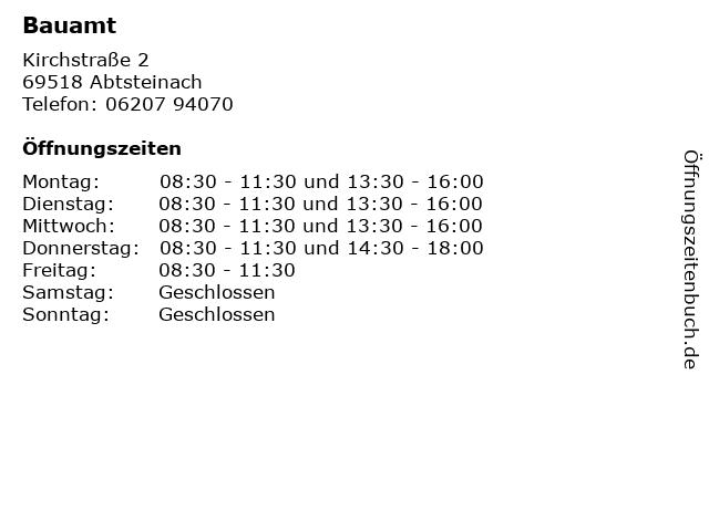 Bauamt in Abtsteinach: Adresse und Öffnungszeiten