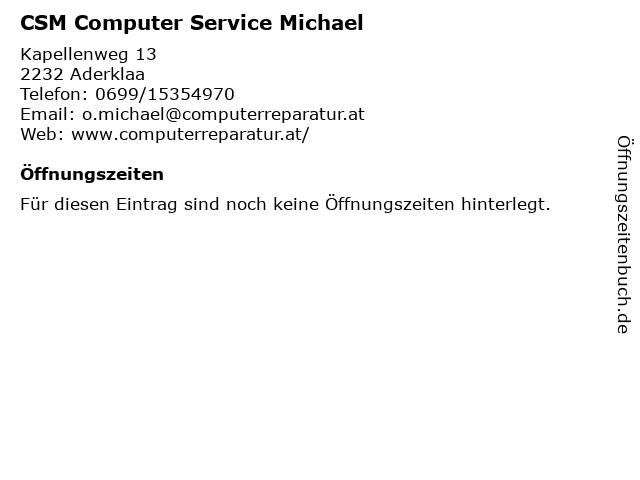 CSM Computer Service Michael in Aderklaa: Adresse und Öffnungszeiten