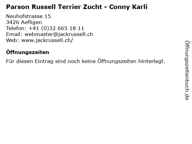 Parson Russell Terrier Zucht - Conny Karli in Aefligen: Adresse und Öffnungszeiten