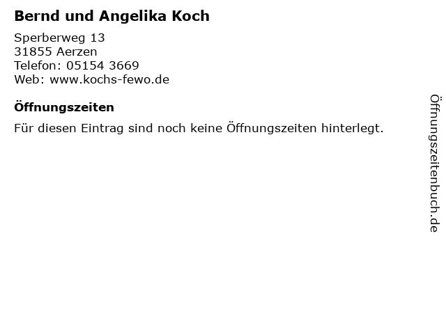 Bernd und Angelika Koch in Aerzen: Adresse und Öffnungszeiten