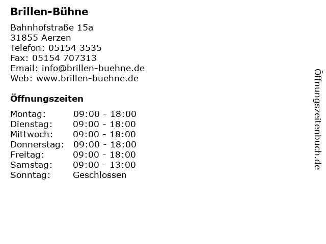 Brillen-Bühne in Aerzen: Adresse und Öffnungszeiten