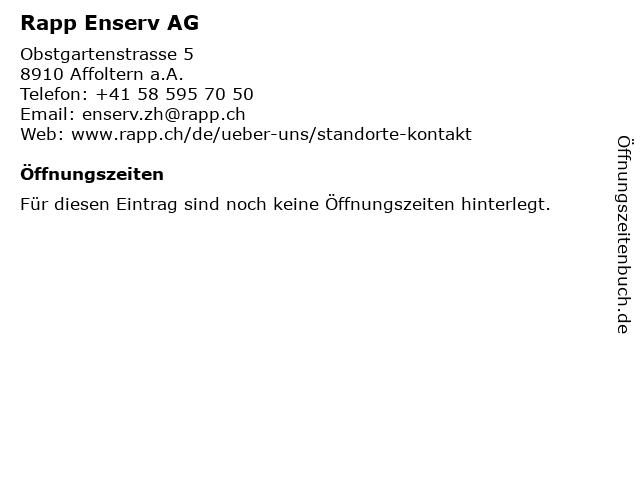 Rapp Enserv AG in Affoltern a.A.: Adresse und Öffnungszeiten