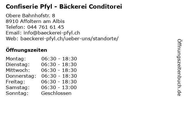 Iten Andreas Bäckerei in Affoltern am Albis: Adresse und Öffnungszeiten