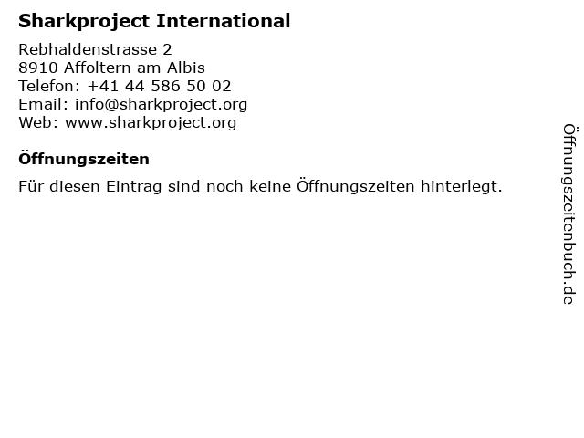 Sharkproject International in Affoltern am Albis: Adresse und Öffnungszeiten