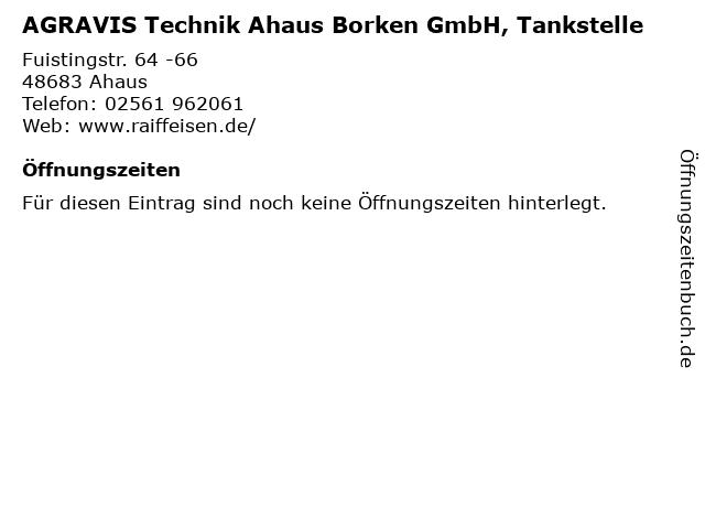 AGRAVIS Technik Ahaus Borken GmbH, Tankstelle in Ahaus: Adresse und Öffnungszeiten