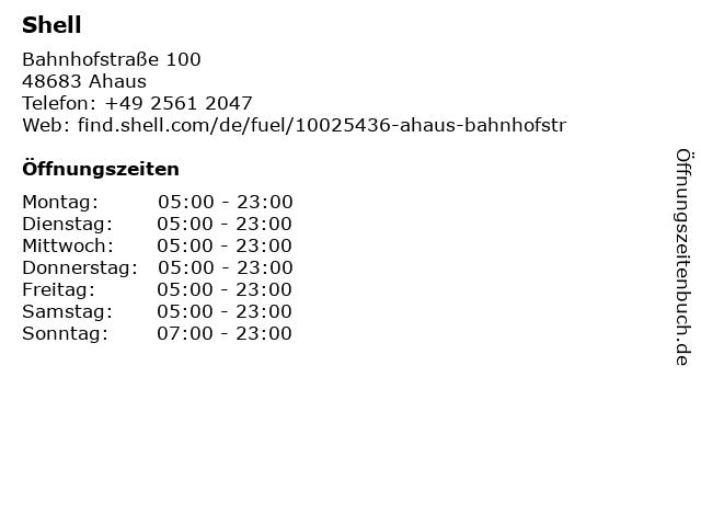 Erzfinke Autohaus GmbH + Shell Tankstelle in Ahaus: Adresse und Öffnungszeiten