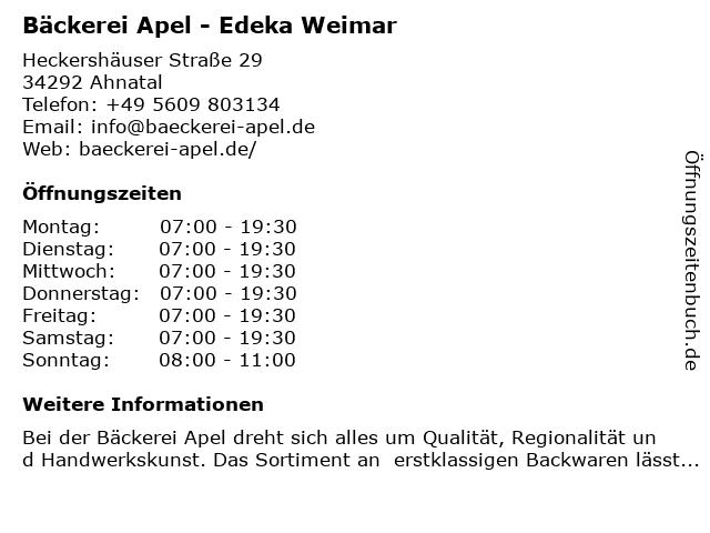 Heinrich Apel GmbH in Ahnatal: Adresse und Öffnungszeiten