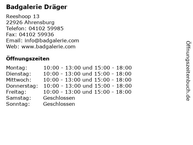 Badgalerie Dräger in Ahrensburg: Adresse und Öffnungszeiten