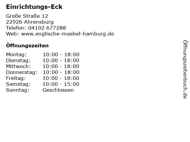 Einrichtungs-Eck in Ahrensburg: Adresse und Öffnungszeiten