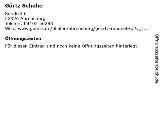 Görtz in Ahrensburg: Adresse und Öffnungszeiten