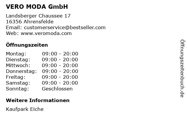 VERO MODA GmbH in Ahrensfelde: Adresse und Öffnungszeiten