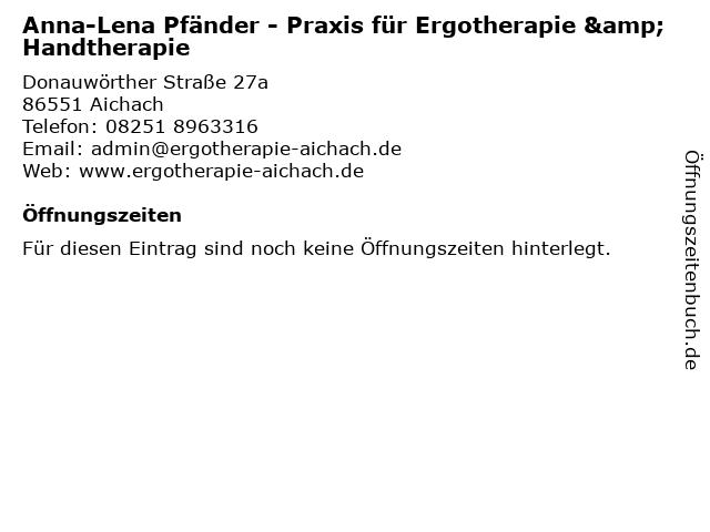 Ergotherapie Anna-Lena Kramer in Aichach: Adresse und Öffnungszeiten
