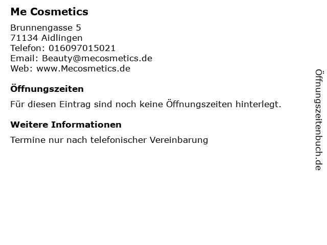 Me Cosmetics in Aidlingen: Adresse und Öffnungszeiten