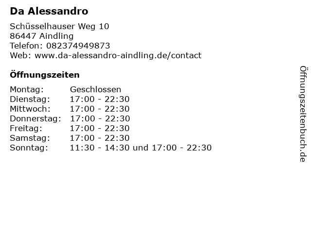 Da Alessandro in Aindling: Adresse und Öffnungszeiten