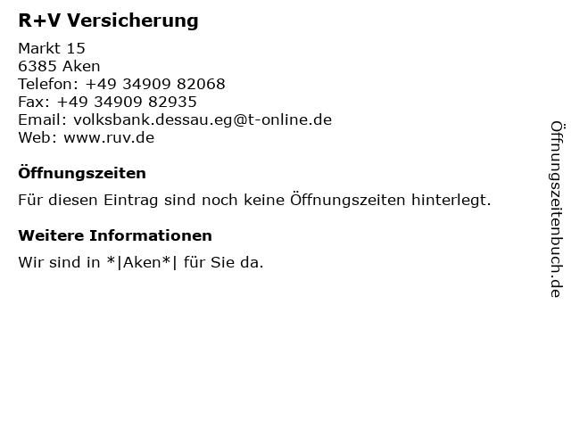 Volksbank Dessau-Anhalt eG Zweigstelle (Geldautomat) in Aken: Adresse und Öffnungszeiten