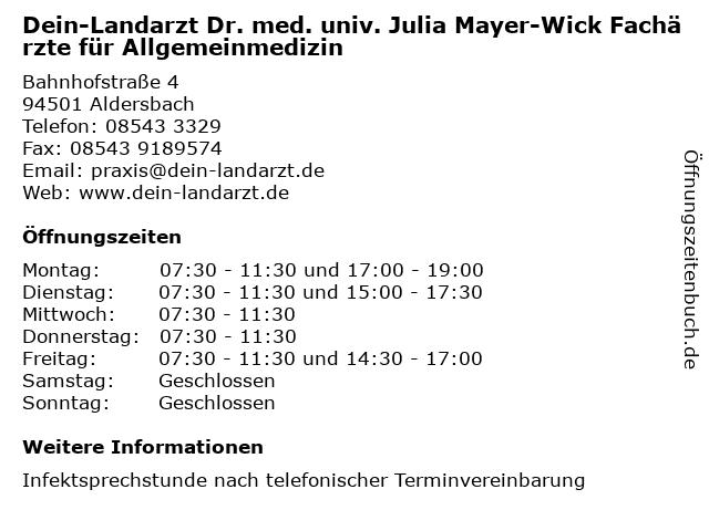 Dr.med. Josef Maydl in Aldersbach: Adresse und Öffnungszeiten