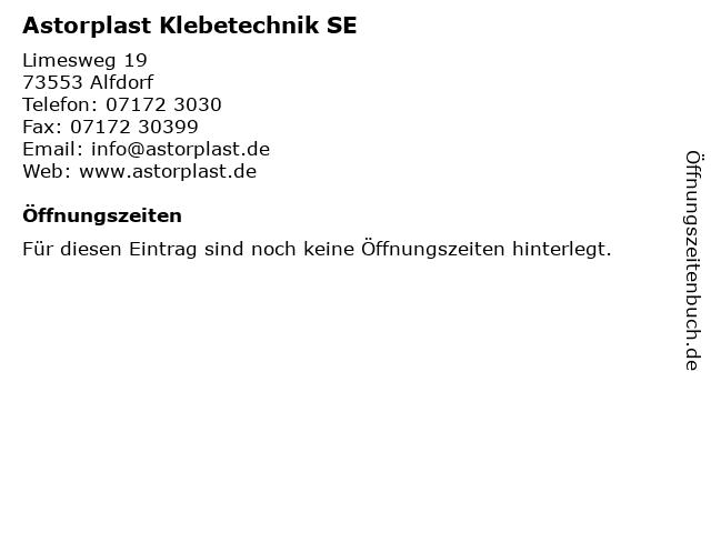 Astorplast Klebetechnik SE in Alfdorf: Adresse und Öffnungszeiten
